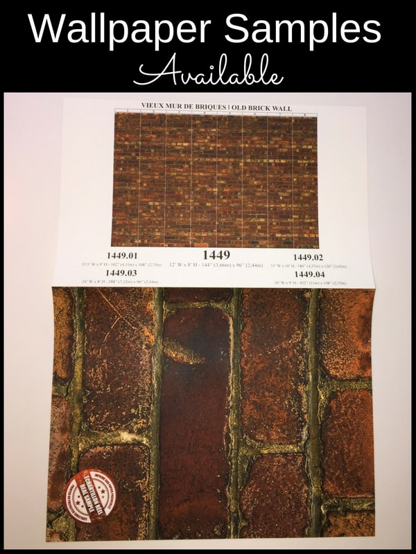 Samples available of this old brick wallpaper, sold by AboutMurals.ca