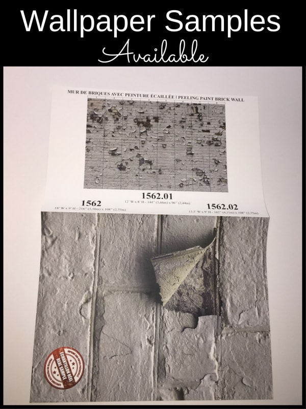 Samples available of this industrial brick wallpaper from AboutMurals.ca
