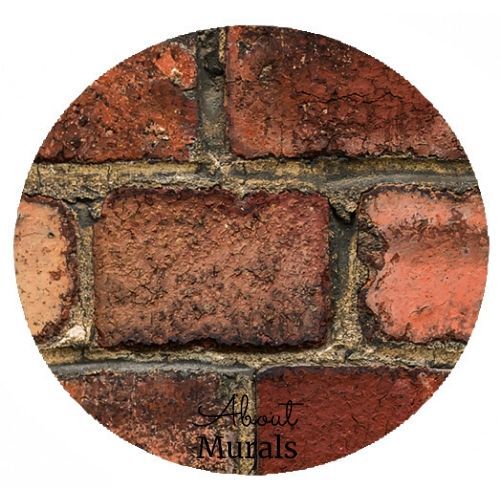 A closeup image of an old brick wallpaper from AboutMurals.ca