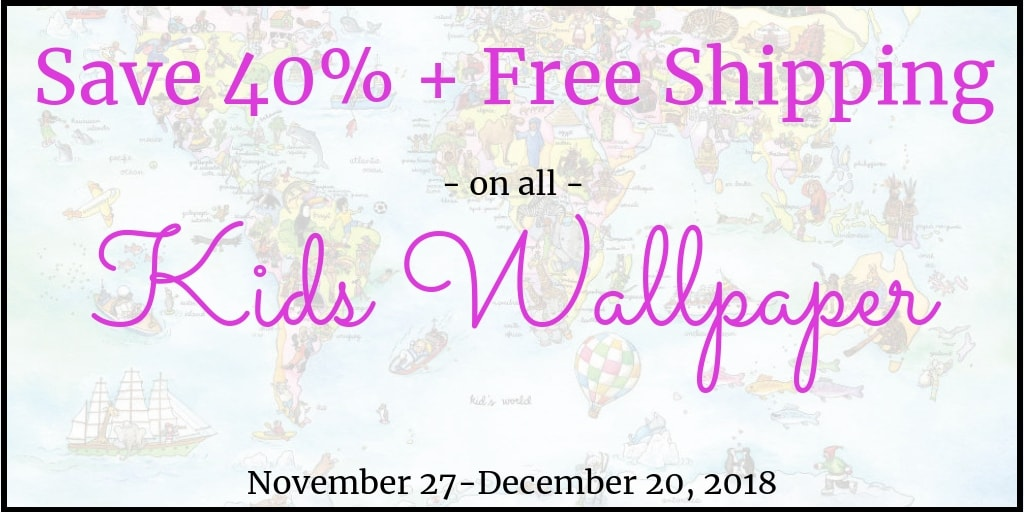 Kids Wallpaper Sale from AboutMurals.ca. Save over 40% plus Free Shipping. Shop Now!