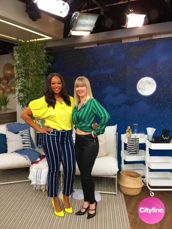 This night sky mural, supplied by AboutMurals.ca, was featured on Cityline with Tracy Moore