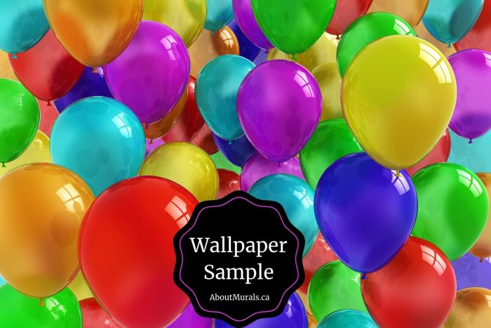 Balloon Wallpaper Sample sold by AboutMurals.ca