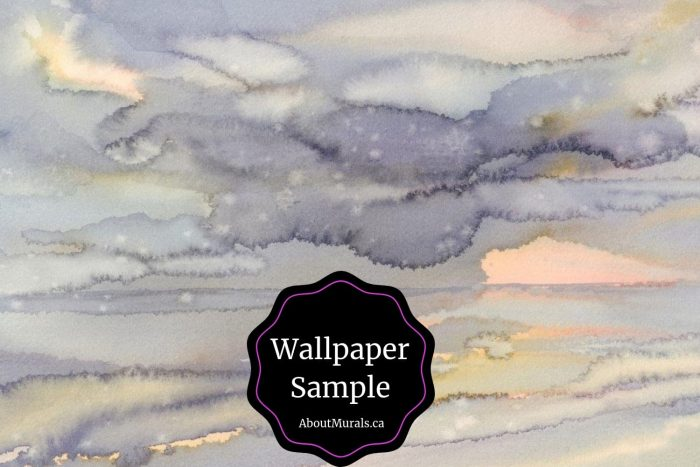 A watercolor wallpaper sample sold by AboutMurals.ca