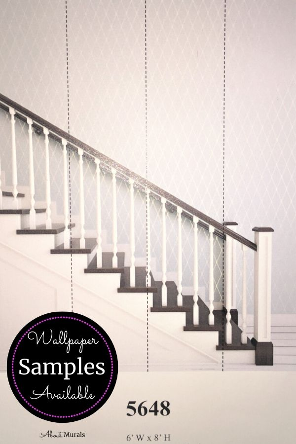 A wallpaper sample of a staircase from AboutMurals.ca