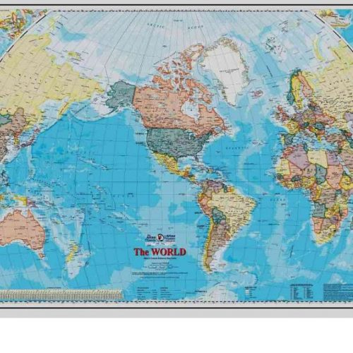 World Map Wallpaper from AboutMurals.ca